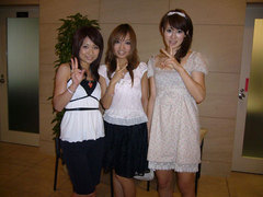 中央:木村美紀ちゃん 右:古賀歩ちゃん
